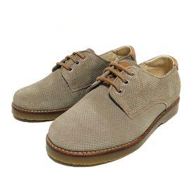 zapato ante taupe niño