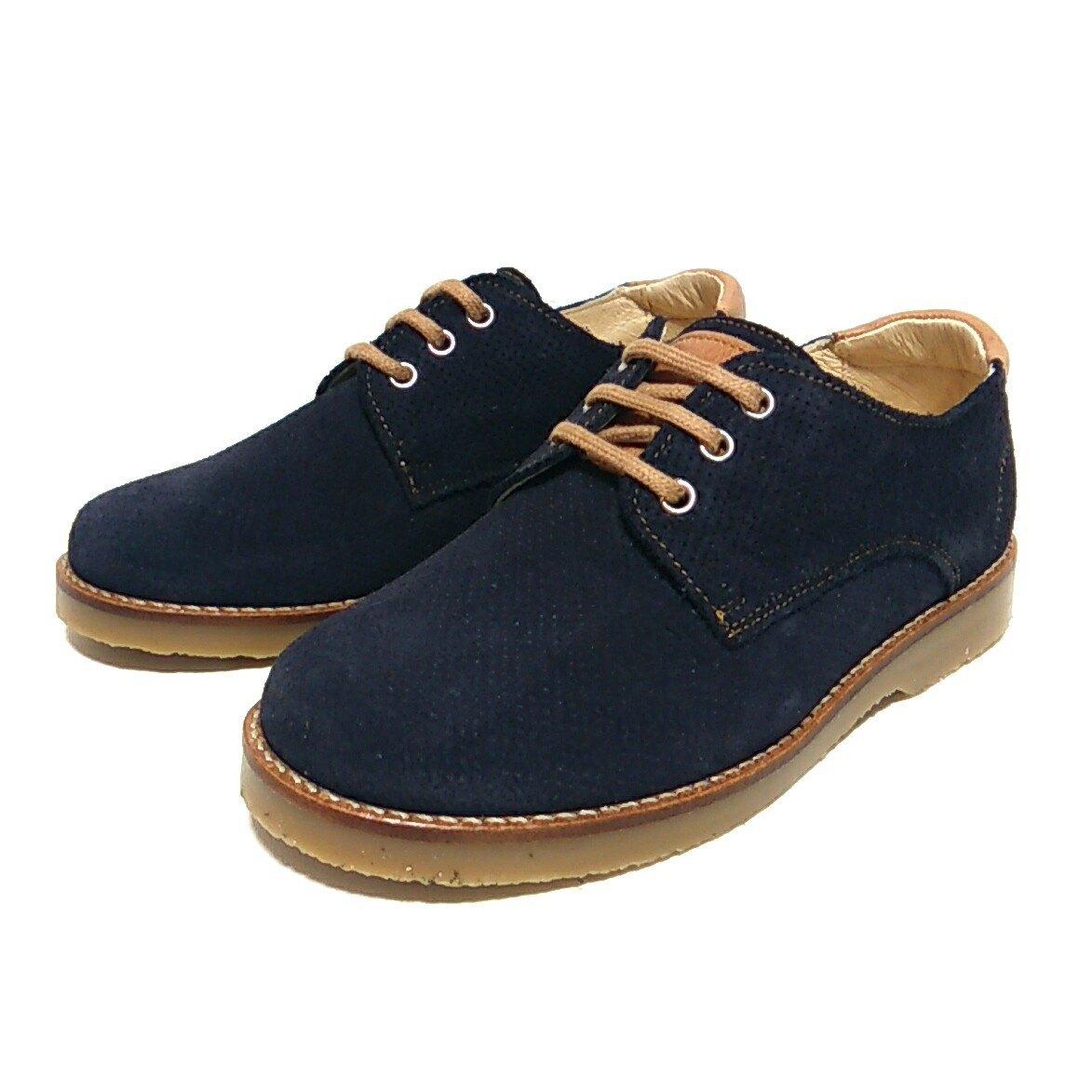 6c16fd41 Zapato de Ante Picado color Marino para Niños de Andanines *Zapatines
