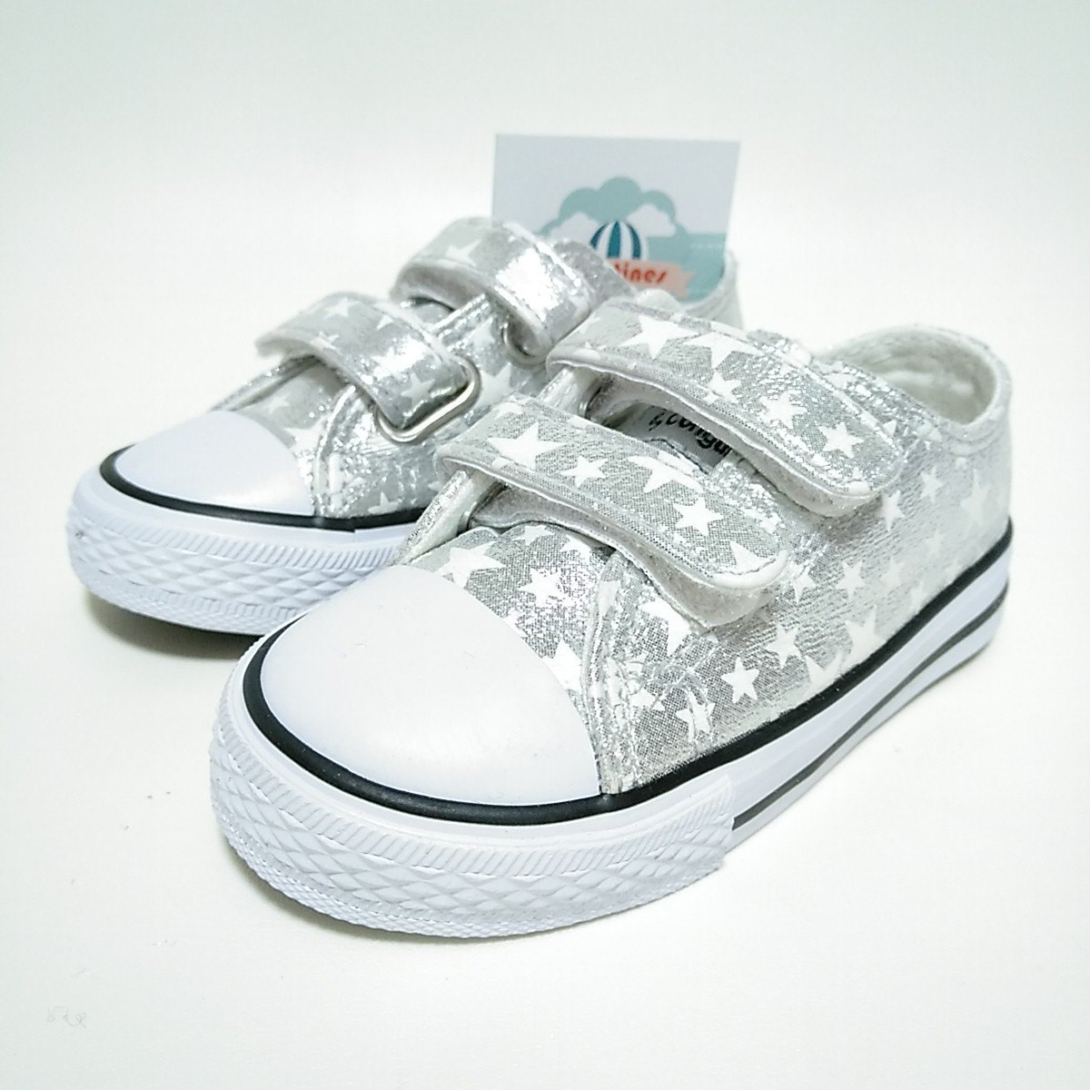 5341f2daa Zapatillas Estrellas Plata Velcro Niña metalizado Conguitos   Zapatines
