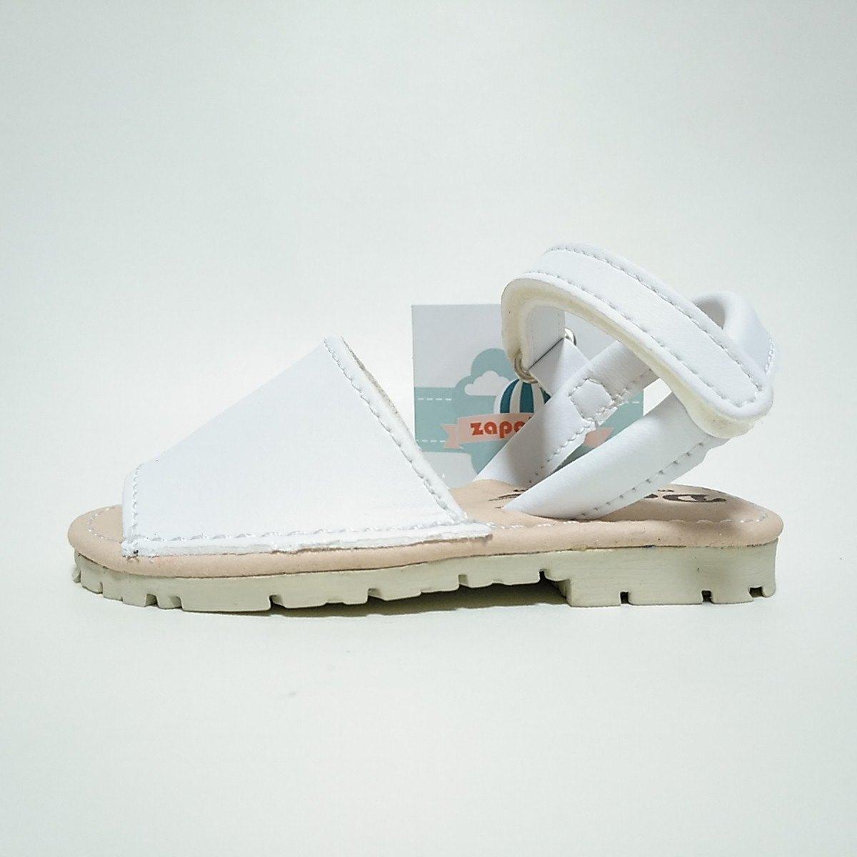 cb95816ec Menorquinas Blancas Velcro Duvic plantilla foam niños y niñas  Zapatines