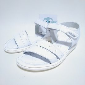 Sandalia Doble Tira Blanca Niña Velcro