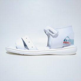 Titanitos sandalia doble tira blanca niña velcro