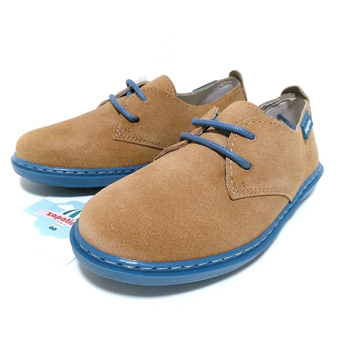 edc76907b Zapatos de niño serraje arena contraste azul Conguitos   Zapatines