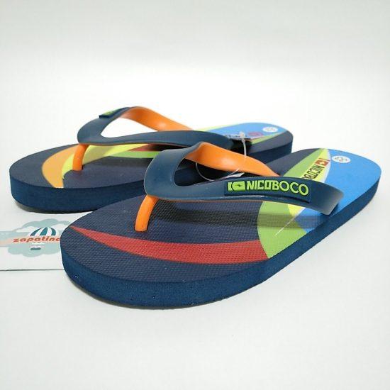 Nicoboco Chanclas Marino Multicolor