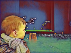 niños en el teatro zapatines
