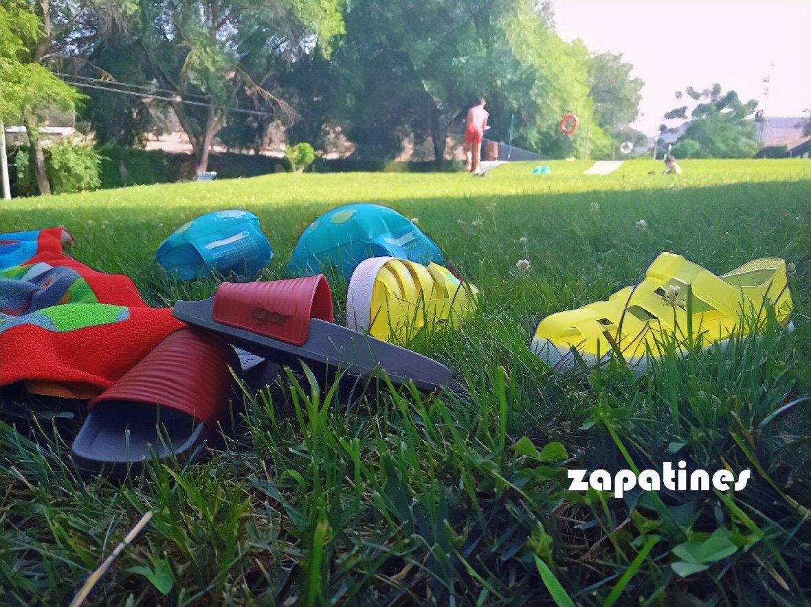 zapatines piscina verano