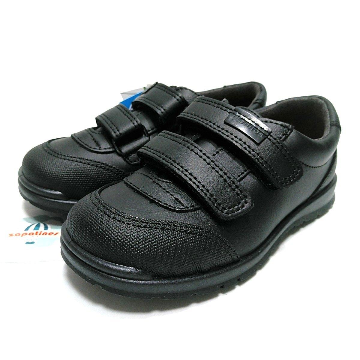 703bd1bb1 Titanitos Colegial Negro Velcros para niño con puntera reforzada ...