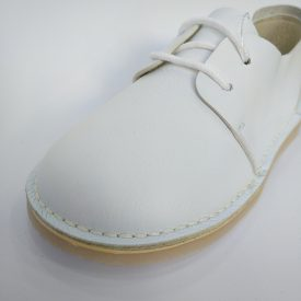 Blucher Piel Blanco Cordones Niño