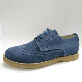 Zapato de comuniones 2019 Serraje Azul
