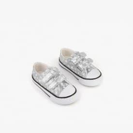 Zapatillas Estrellas Plata Conguitos