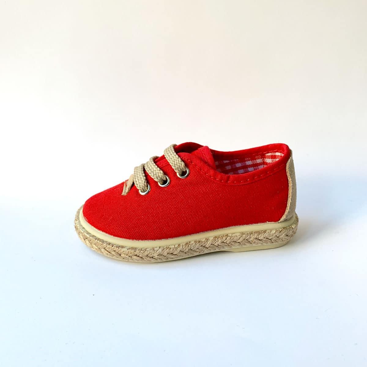 523eb796 zapatillas de lona para vestir. Click to enlarge. zapatillas de lona para  vestir. InicioNuestras MarcasVulpeques Zapatillas Piqué Rojo Yute Cordones