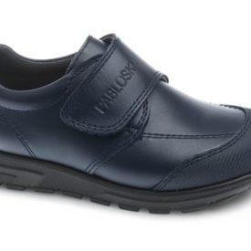Zapato Colegial Marino Velcro puntera reforzada para niño de Pablosky