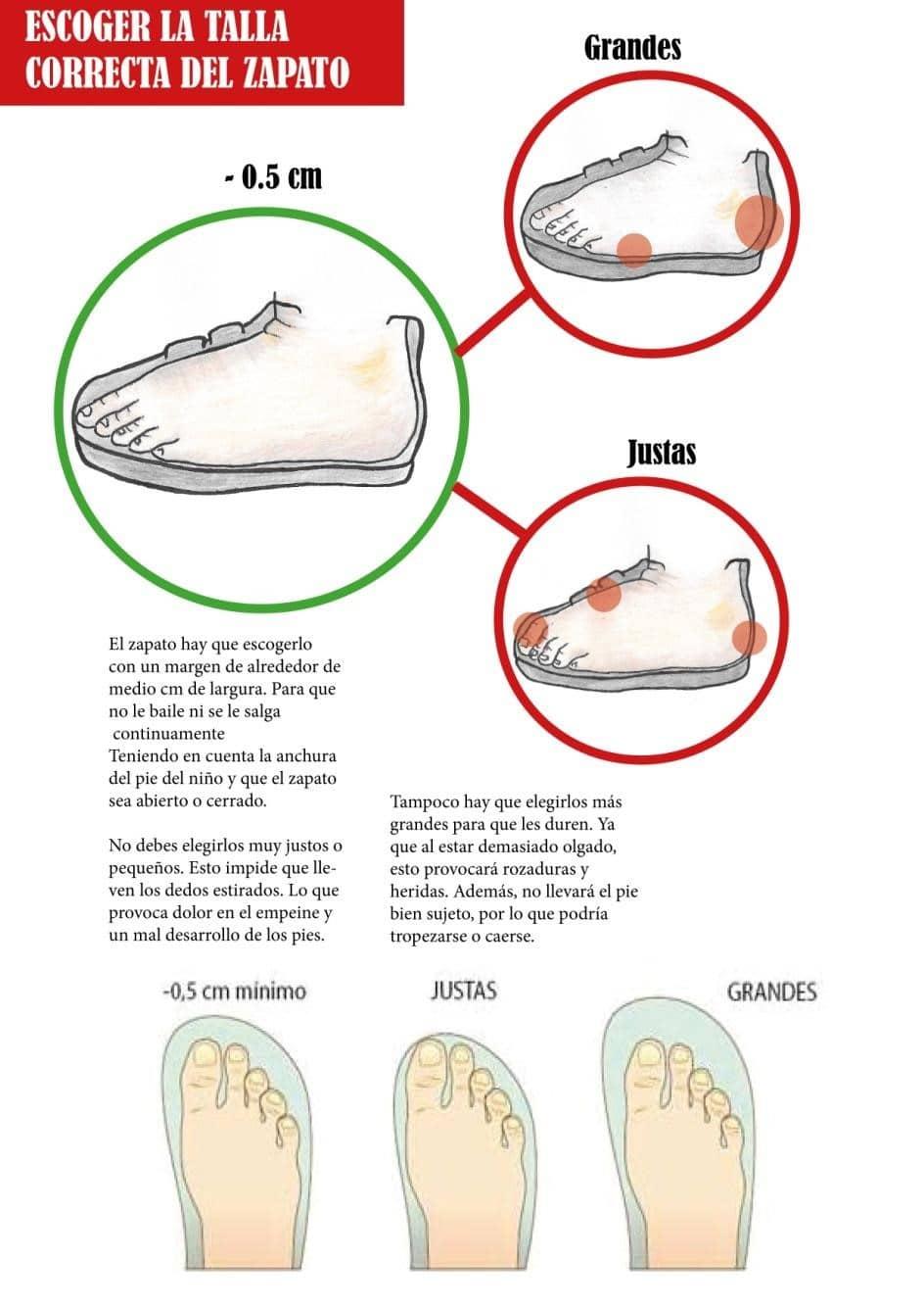 medir pies de niños