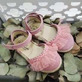 esparteña ceremonia rosa niña