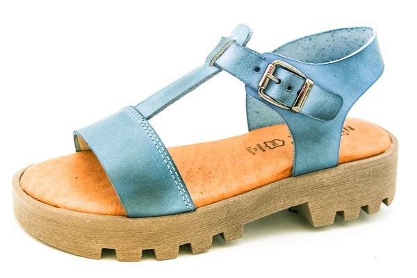 Sandalias de Niña Azules con Suela Gruesa Titanitos
