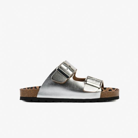 sandalias plata de niña