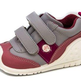 zapatillas deportivas para niña preandante en gris perla y rosa de Titanitos