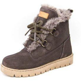 botas de pelo para niña en gris tipo esquimal de Titanitos