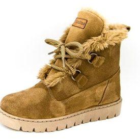 botas de pelo tipo esquimal en serraje camel de Titanitos