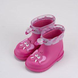 botas de agua cortas para bebé niña en fucsia marca Igor