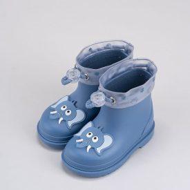 botitas de agua para bebé niño en azul con dibujo elefante