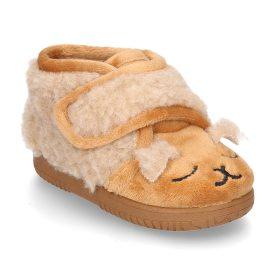 zapatillas de casa ovejita beige marca Vulpeques