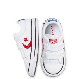 Converse Lona Blanca Estrella Roja